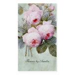 Rosaleda inglesa del vintage botánica tarjeta de visita