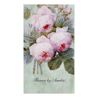 Rosaleda inglesa del vintage botánica tarjetas de visita
