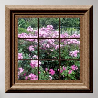 Rosaleda pacífica del falso poster de la ventana q