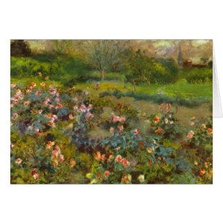 Rosaleda por el arte impresionista hermoso de Reno Tarjeta