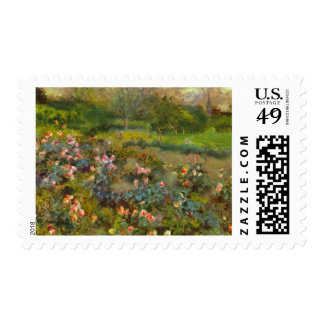 Rosaleda por el arte impresionista hermoso de sello