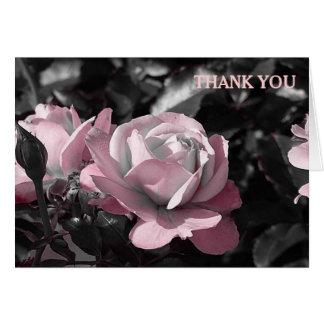 Rosaleda rosada tarjeta de felicitación