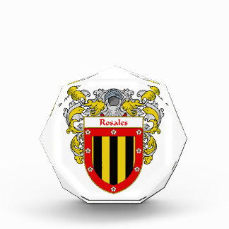 Rosales Coat of Arms Family Crest Acrylic Award