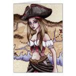 Rosalía - tarjeta del pirata del mapa del tesoro