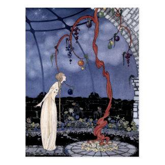 Rosalía y el árbol de ciruelo mágico postal