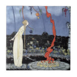 """Rosalie by Virginia Frances Sterrett Tile<br><div class=""""desc"""">&#39;Rosalie saw before her eyes a tree of marvellous beauty.&#39;  A Virginia Frances Sterrett illustration scanned from my own copy of &#39;Old French Fairy Tales&#39;,  1920.</div>"""