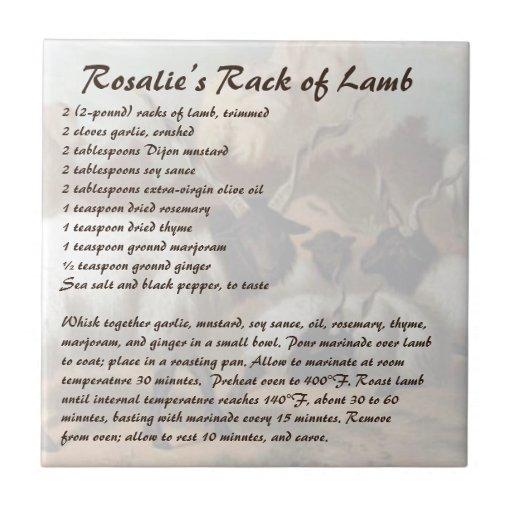 Rosalie's Rack Of Lamb Tile