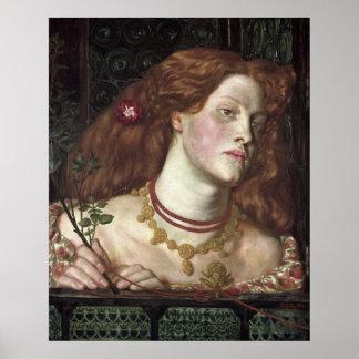 Rosamund justo - Dante Gabriel Rossetti Posters