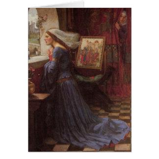Rosamund justo en la ventana tarjeta de felicitación