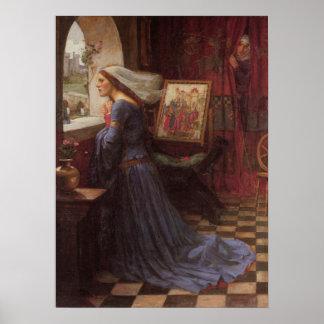 Rosamund justo - John William Waterhouse Póster