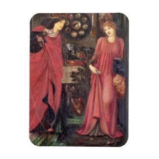 Rosamund justo y reina Eleanor (técnicas mixtas en Imanes Rectangulares