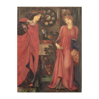 Rosamund justo y reina Eleanor (técnicas mixtas en Impresión En Madera