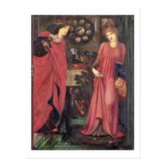 Rosamund justo y reina Eleanor (técnicas mixtas en Postales