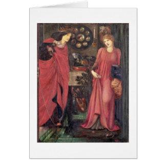 Rosamund justo y reina Eleanor (técnicas mixtas en Tarjeta De Felicitación