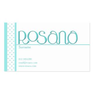 Rosana blue Business Card
