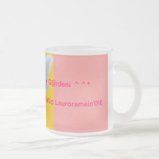 RosarianMar¡a`s Frosted^PearlyRoseMug* Frosted Glass Coffee Mug