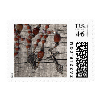Rosary Beads Posteage Postage Stamp