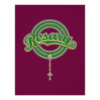 Rosary Circle Script Logo Green on Green Letterhead