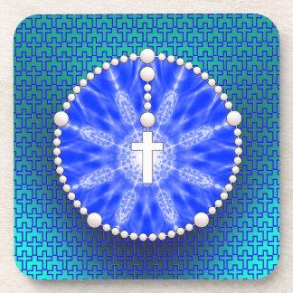 Rosary Dream Catcher Blue Coaster