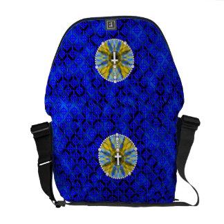 Rosary Dream Catcher Blue & Yellow Messenger Bag