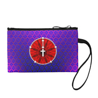 Rosary Dream Catcher Red Coin Purses