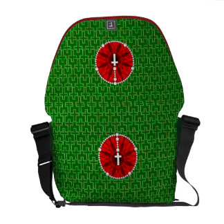 Rosary Dream Catcher Red Commuter Bag