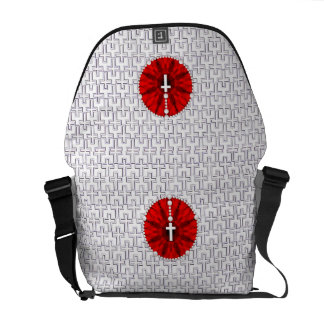 Rosary Dream Catcher Red Courier Bag