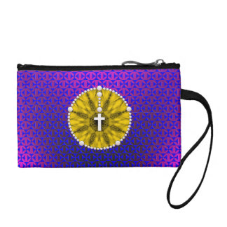 Rosary Dream Catcher Yellow Coin Purses