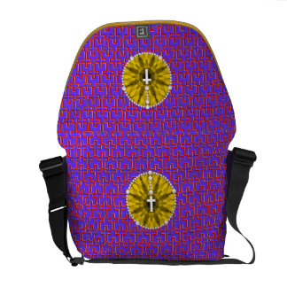 Rosary Dream Catcher Yellow Courier Bag