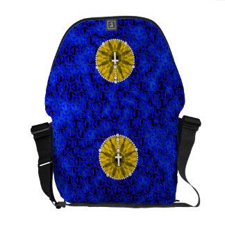 Rosary Dream Catcher Yellow Messenger Bag