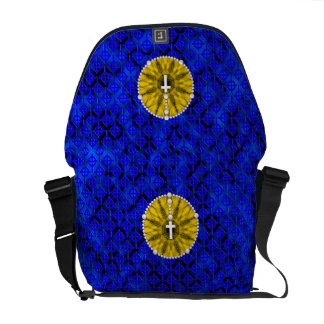 Rosary Dream Catcher Yellow Courier Bags