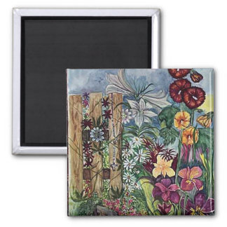 Rosary Garden 2 Inch Square Magnet