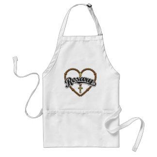 Rosary Heart Black Logo Adult Apron