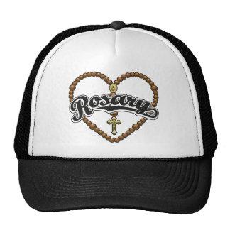 Rosary Heart Black Logo Mesh Hat