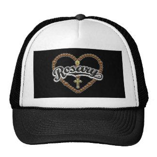 Rosary Heart Black Logo Mesh Hats