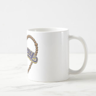 Rosary Heart Blue Logo Mugs