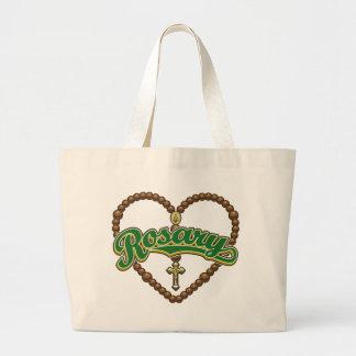 Rosary Heart Green Logo Bag