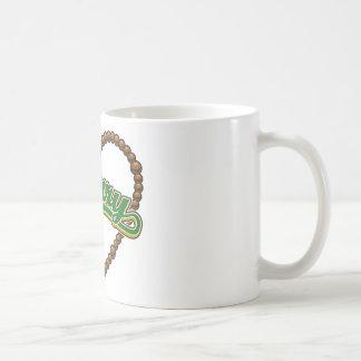 Rosary Heart Green Logo Coffee Mugs