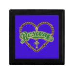 Rosary Heart Green Logo Gift Boxes