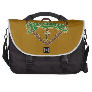 Rosary Heart Green Logo Laptop Bag