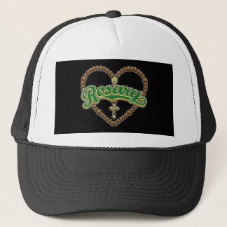 Rosary Heart Green Logo Trucker Hat