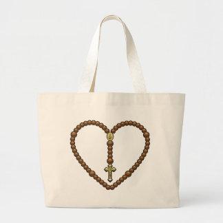 Rosary Heart No Logo Canvas Bags