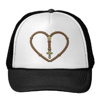 Rosary Heart No Logo Trucker Hats