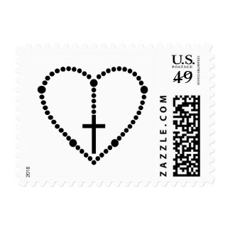 Rosary Heart Postage