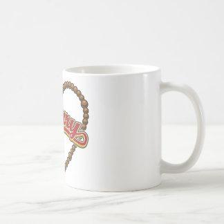 Rosary Heart Red Logo Mug