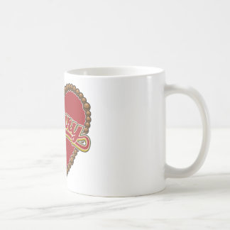 Rosary Heart Red Logo on Red Background Coffee Mug