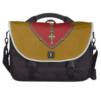 Rosary Heart Red No Logo Commuter Bag