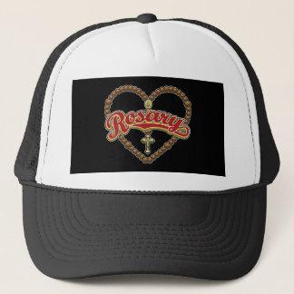 Rosary Heart Red Trucker Hat