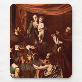 Rosary Madonna by Caravaggio Mouse Pad