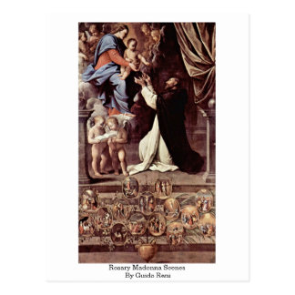 Rosary Madonna Scenes By Guido Reni Post Card